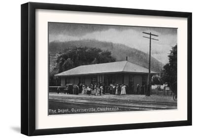Exterior View of the Train Depot - Guerneville, CA