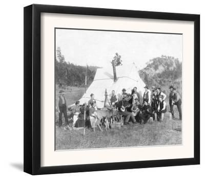 Free Time in Camp for Engineer Corps and Visitors Photograph - South Dakota