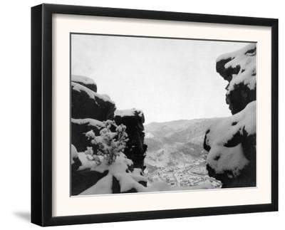 Deadwood as Seen from White Rocks Photograph - Deadwood, SD