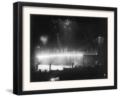 Firework Display at the Opening of the Williamsburg Bridge NYC Photo - New York, NY