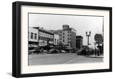 Street Scene, View of Ekho Drugstore - Everett, WA