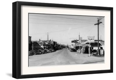 Street Scene, View of a Texaco Gas Station - East Stanwood, WA