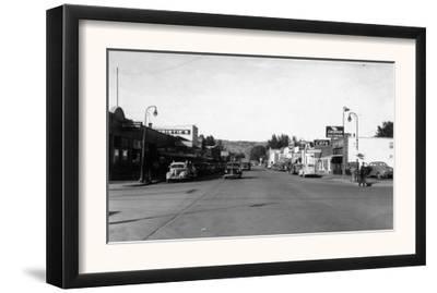 Street Scene, View of a Chevron Gas Station - Omak, WA