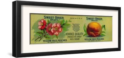 Sweet Brier Peach Label - San Francisco, CA