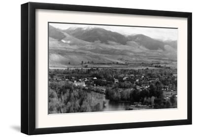 Aerial View of the Town - Salmon, ID