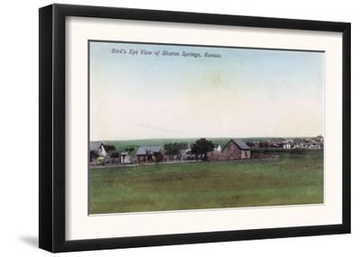 Aerial View of the Town - Sharon Springs, KS