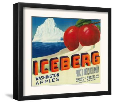 Iceberg Apple Label - Yakima, WA