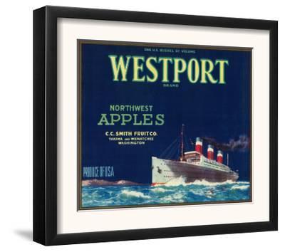 Westport Apple Label - Yakima, WA