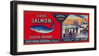 Sledge Salmon Can Label - San Francisco, CA