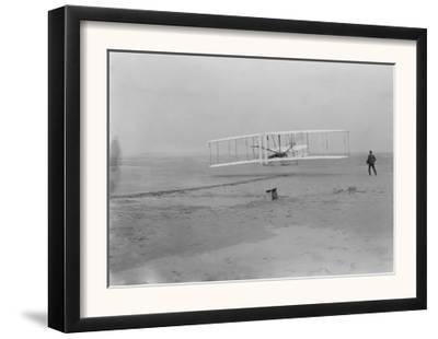 Orville Wright on First Flight at 120 feet Photograph - Kitty Hawk, NC