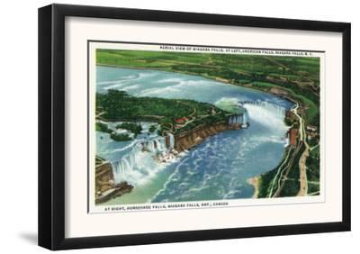 Aerial View of Entire Niagara Falls, American and Canadian - Niagara Falls, NY/Canada