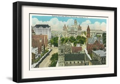 Albany, New York - Exterior View of Capitol Hill and Official Bldgs