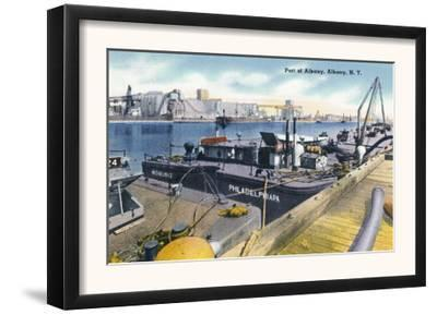 Albany, New York - View of the Port of Albany, SS Iroquois in Dock