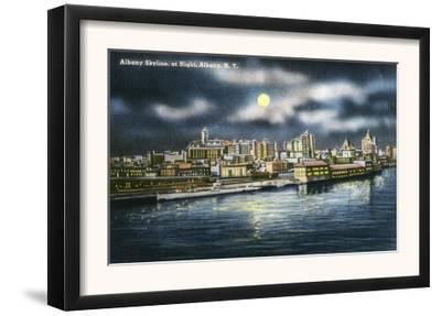 Albany, New York - View of Albany Skyline at Night