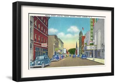 Auburn, New York - South Street View of Genesee Street