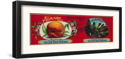 Almaden Peach Label - San Francisco, CA