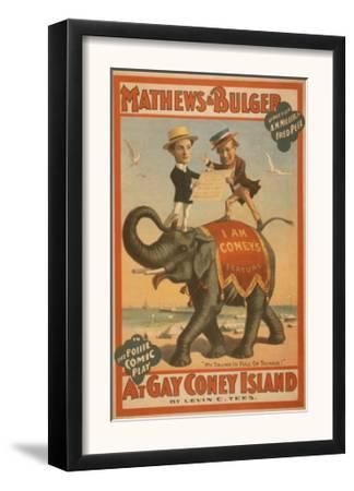 """At Gay Coney Island"" Musical Comedy Poster No.3"