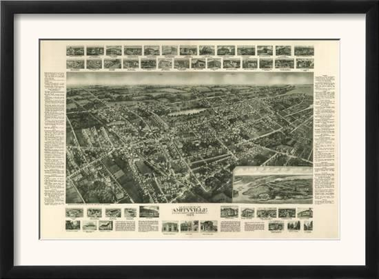 Amityville New York Map.Amityville New York Panoramic Map Posters By Lantern Press At
