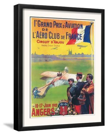 Angers, France - First Aviation Grand Prix - Pilot Taking Off Poster