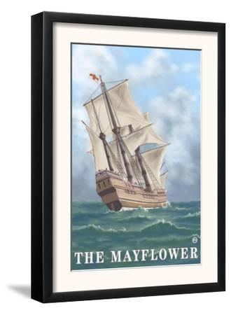 Plymouth, Massachusetts - View of the Mayflower