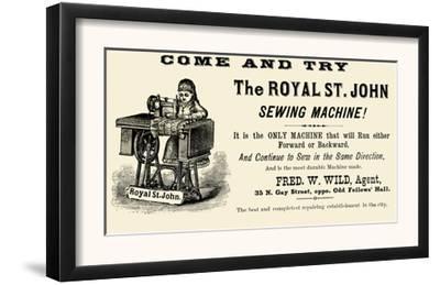 The Royal St. John Sewing Machine
