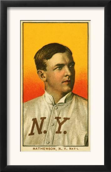 New York City Ny New York Giants Christy Mathewson Baseball Card