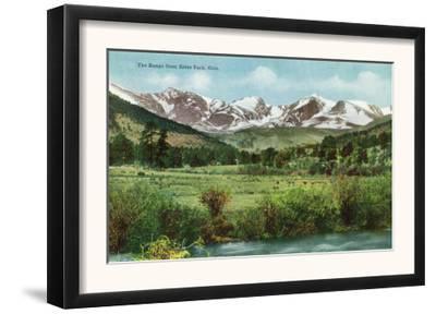 Rocky Mountain National Park, Colorado, View of the Range from Estes Park