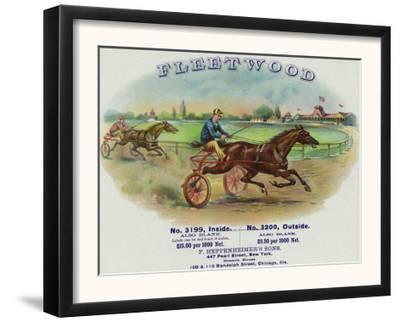Fleetwood Brand Cigar Box Label, Horse Racing