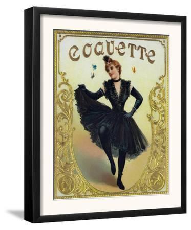 Coquette Brand Cigar Box Label