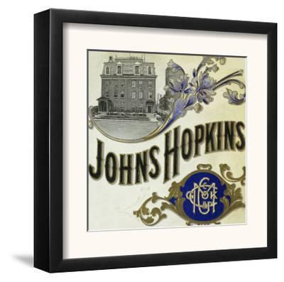 Johns Hopkins Brand Cigar Box Label