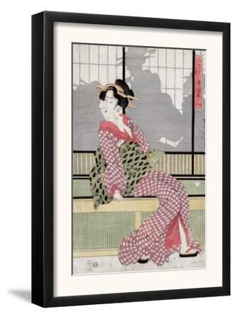 Three Beauties Enjoying the Evening Cool, Japanese Wood-Cut Print