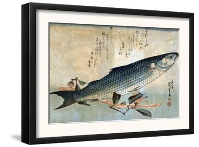 Striped Mullet, Japanese Wood-Cut Print