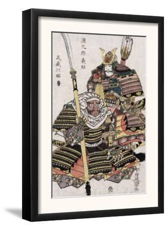 Genkuro Yoshitsune and Musashibo Benkei, Japanese Wood-Cut Print