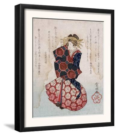 Oiran, Japanese Wood-Cut Print
