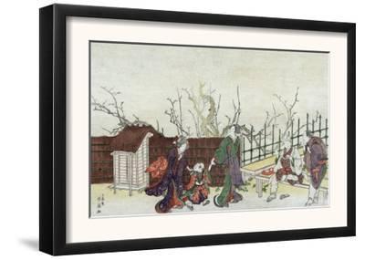 Villa in Kamedo, Japanese Wood-Cut Print