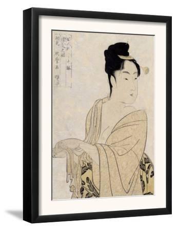 Flirtatious Lover, Japanese Wood-Cut Print