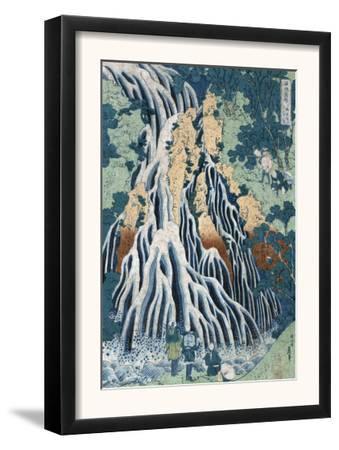 Kirifuri Falls at Mount Kurokami in Shimosuke, Japanese Wood-Cut Print