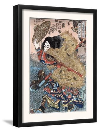 Kinhyoshi Yorin, Hero of the Suikoden, Japanese Wood-Cut Print