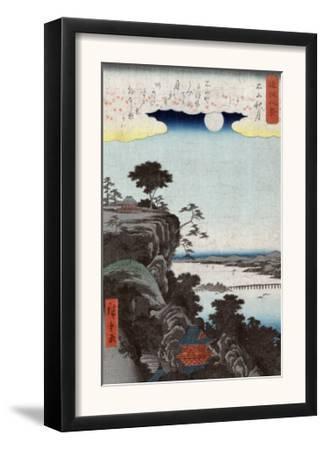 Autumn Moon at Ishiyama, Japanese Wood-Cut Print