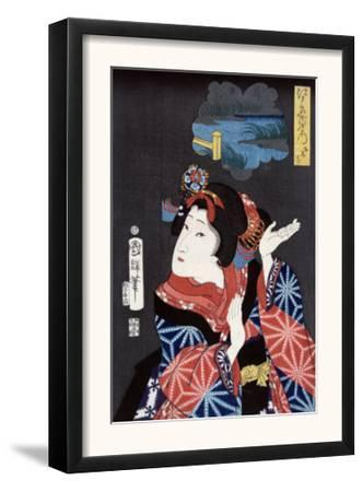 The Young Maiden Oshichi, Japanese Wood-Cut Print