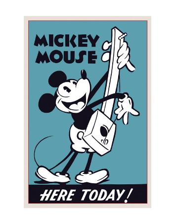 Mickey Mouse Here Today!