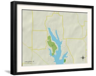 Political Map of Lake Kiowa, TX