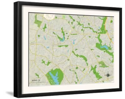 Political Map of Burke, VA