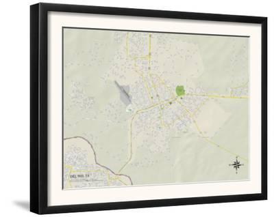 Political Map of Del Rio, TX