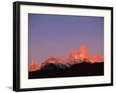 Fitzroy Massif Peak at Sunset, Andes, Patagonia, Argentina, South America