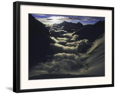 Dramatic Sun and Clouds on Southside of Everest, Nepal