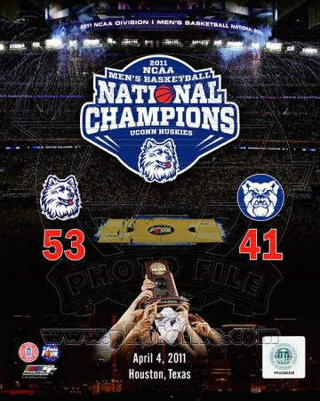 University of Connecticut 2011 NCAA Men's Final Four College Basketball Champions Composite