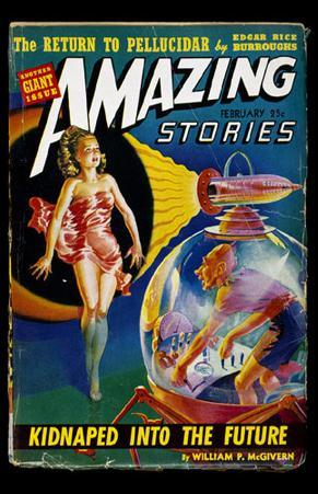 February 1942 -Amazing Stories -Kidnapped into the Future