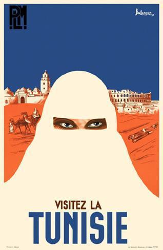 Visitez La Tunisie Tunisia Africa Vintage African Travel Advertisement Poster