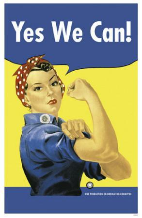 Yes We Can Rosie the Riveter